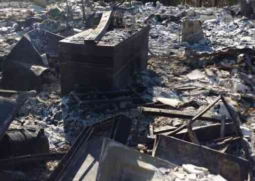 Remains of Home after a firestorm