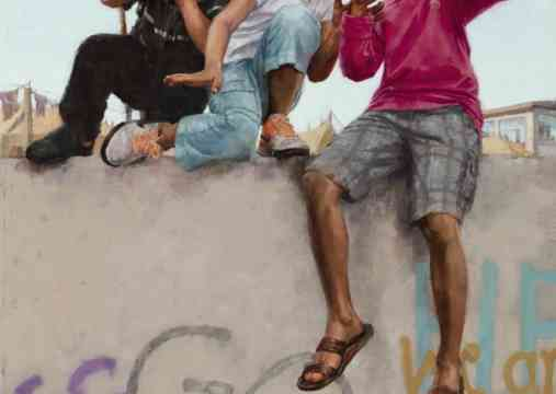 """""""A Message to the World,"""" Oil on linen by Elizabeth Benson Thayer"""
